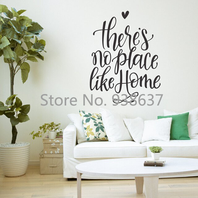 Characters Vinyl Wall Art Decals Quote There S No Place Like Home Removable Stickers Decor Living Room Newly Zb405 In From