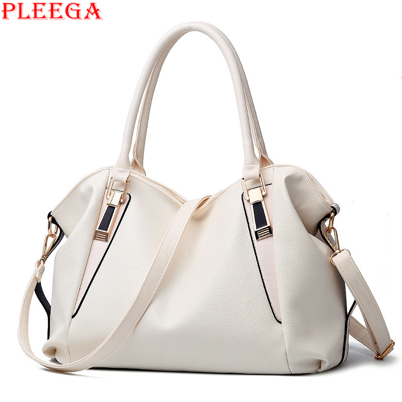 PLEEGA Brand High Capacity Fashion Women Messenger Bags Luxury Leisure Tote Ladies Leather Solid Shoulder Bag