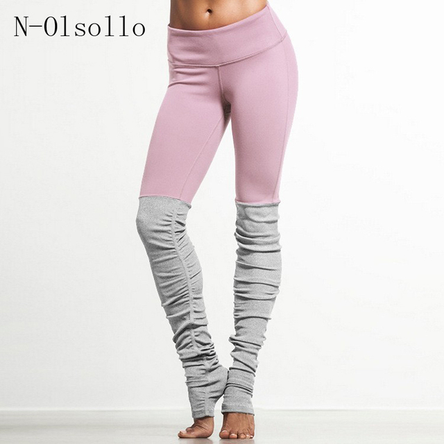 898419a73e4af High Waist 2017 New Candy Color Goddess Ribbed Leggings Skinny Yuga Pants  Wicking Polyester Legins Women Fitness Workout Legging