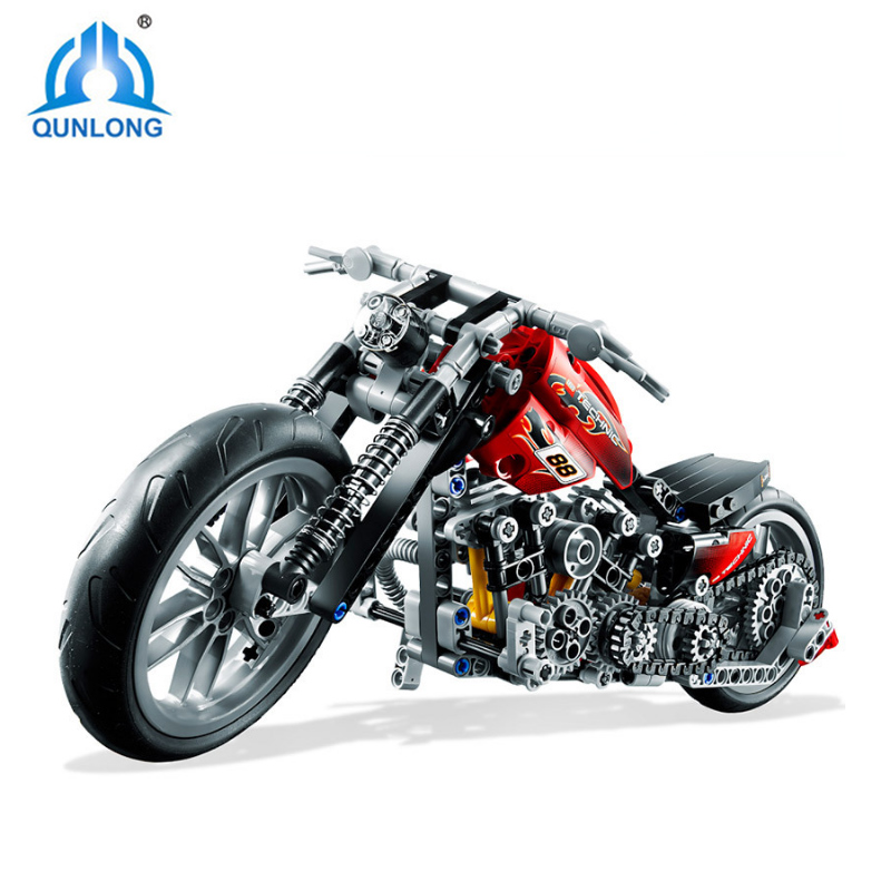 Qunlong 378Pcs/set Decool 3354 Technic Motorcycle Exploiture Model Harley Vehicle Model Building Bricks Block Toy For Kids Gift a toy a dream 2017 new free shipping decool 3331 large 805pcs exploiture crane model enlighten plastic building blocks sets