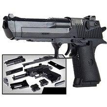 DIY сборка строительного блока пистолет игрушки пистолет винтовка дети пластик 3D Миниатюрный пистолет Модель для мальчиков CS Игры развивающие игрушки
