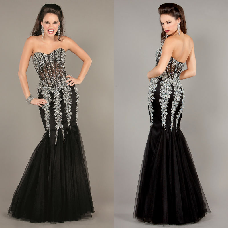 diamond mermaid prom dresses - photo #18