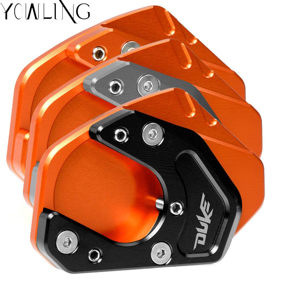 Motorcycles Motorbike Accessories for KTM DUKE 390 2013 2018 DUKE 125 200 Duke 250 CNC Kickstand Side Stand Extension Plate Pad in Covers Ornamental Mouldings from Automobiles Motorcycles