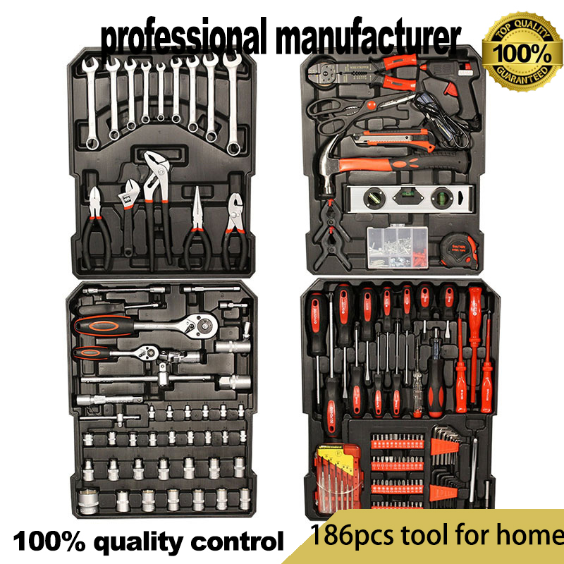 186pcs spanner for home car fix use at good price with tool box export tools kits for car use