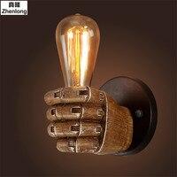 LanLan Retro Kreative Faust Form Wand Licht E27 Lampe Halter Industriellen Stil Wand Lampe Neue Jahr Dekoration für Home Bar