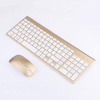 2.4GHz Wireless Keyboard and Mouse Combo 102 Keys Low noise Wireless Keyboard Mouse for Mac Pc WindowsXP/7/10 Tv B Smooth Body