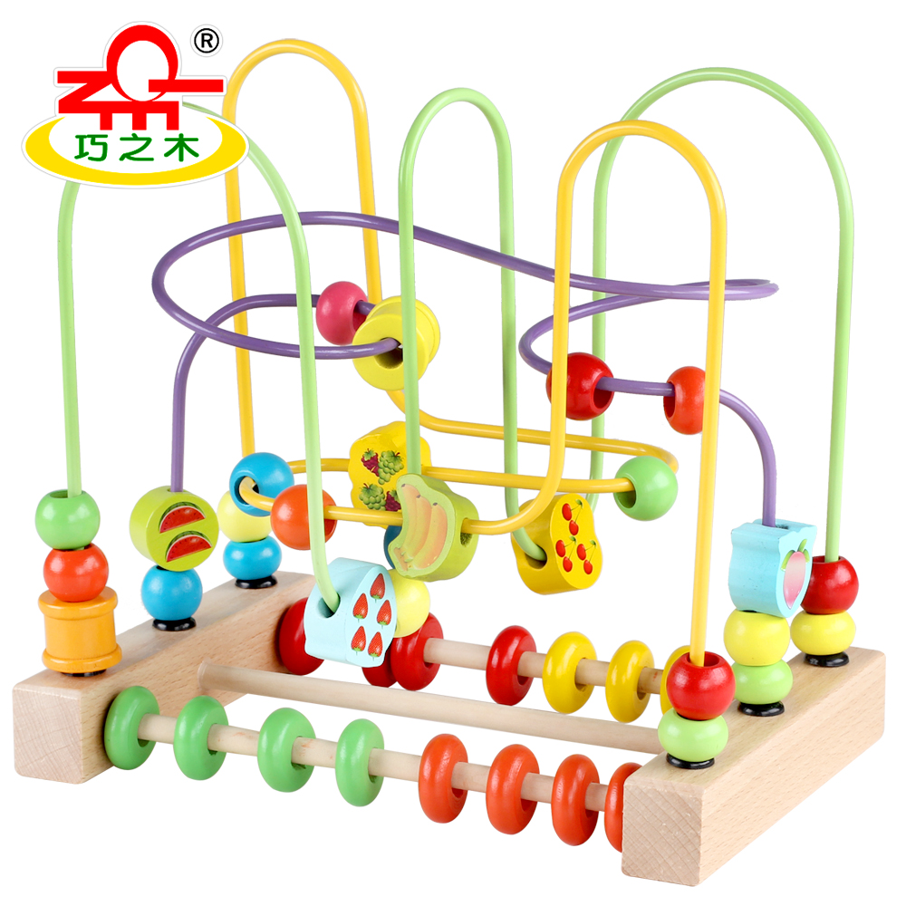 Montessori Educational Wooden Toys Counting Circles Bead ...