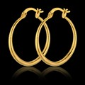 Gold Earrings Wholesale, Big Hoop Earrings For Women Jewelry, Vintage 18K Real Gold Plated African/Indian Jewelry Brincos