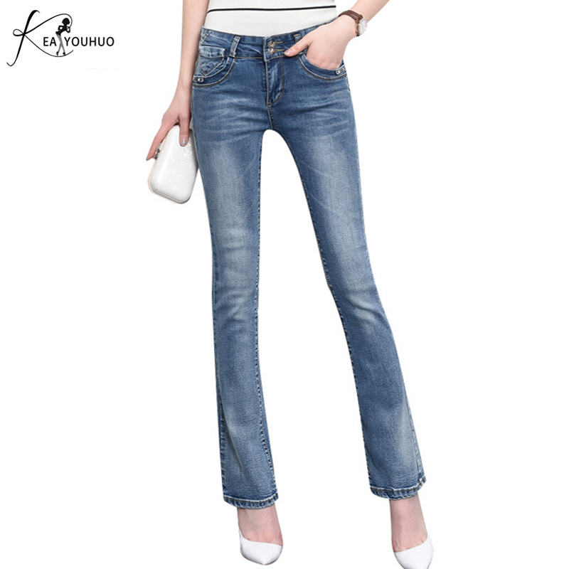New Fashion Brand 2017 Autumn Loose Big Wide Leg Jeans Female Tassel Water Wash Blue Pants Vintage Bell-bottom Women Flare Jeans new spring autumn jeans pants vintage fashion patchwork women wide leg denim casual loose female blue jeans pants