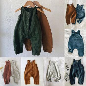 PUDCOCO śliczne dzieci noworodka chłopiec dziewczyna bawełniana pościel Romper stałe bez rękawów kombinezon w paski strój letnia odzież codzienna 0-24M tanie i dobre opinie COTTON Unisex Pojedyncze piersi O-neck Fashion Pasuje prawda na wymiar weź swój normalny rozmiar