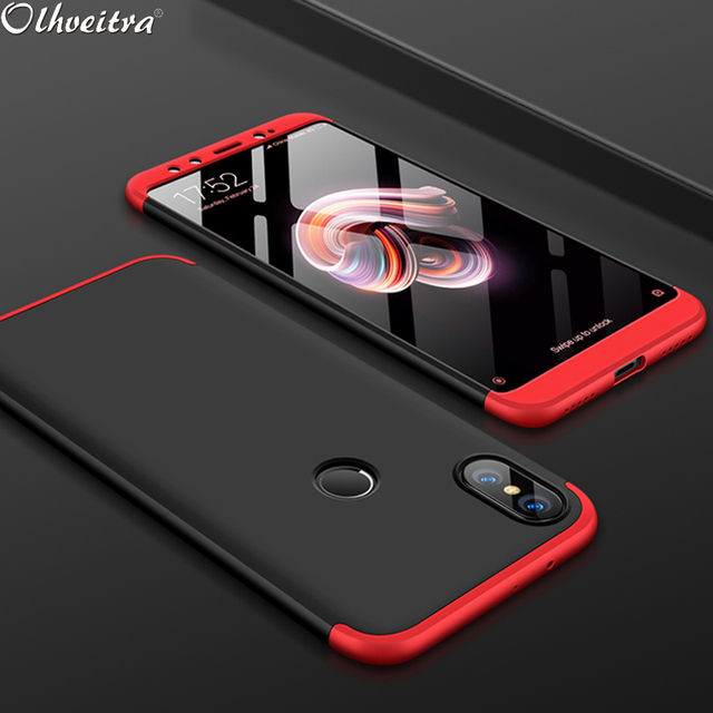 buy popular 1c281 8fe9a US $2.07 25% OFF|Olhveitra Redmi Note 5 6 Pro For Xiaomi Redmi S2 Case 3 In  1 Hard PC Protective Case For Xiaomi Redmi S2 Mi 8 SE Pocophone F1 -in ...