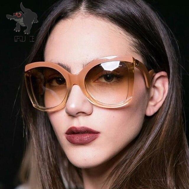 37676882bd Fu e fashion ladies sunglasses women large frame brand designer square sunglasses  men sunglasses glasses jpg