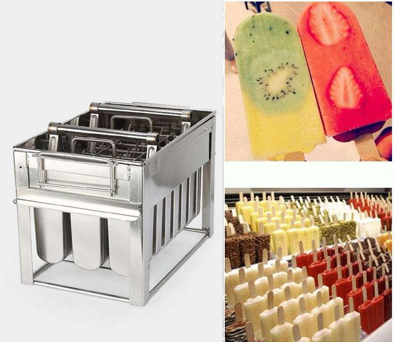 24pcs Stainless Steel Ice Lolly Mold Type 1 , Round Head Plate, 108ml, For Ice Cream Molding