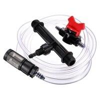 Sıcak! 1/2 bahçe sulama cihazı Venturi gübre enjektörü anahtarı su tüpü kiti