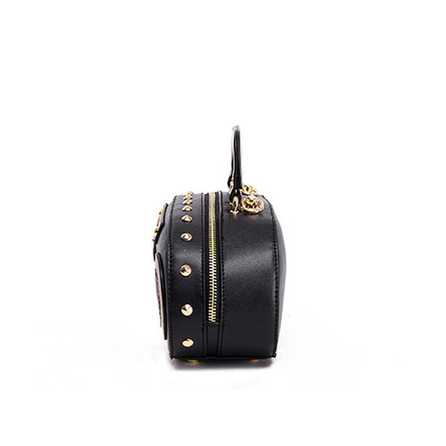 Rock Style Women Handbags PU Rivet Women Clutch Purse Ladies Short Elegent Shoulder Bags Bolso Marca Famosa Mujer 2016 Trendy