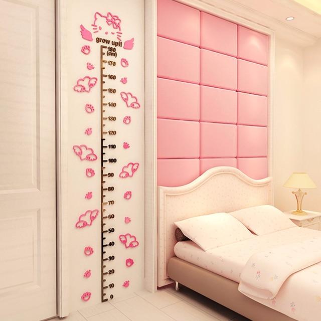3d hellokitty height wall stickers baby girl girl heart room