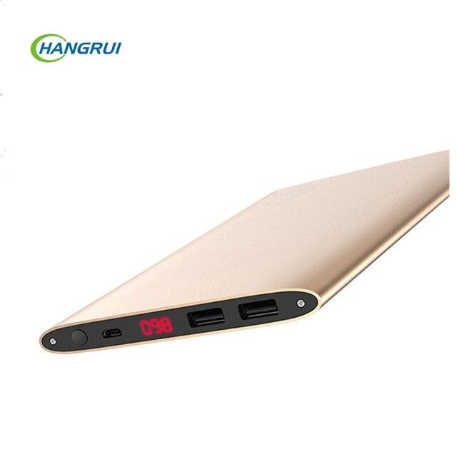 Solove banco do poder 20000 mah ultra fino bateria externa grande capacidade pacote de porta dupla usb 5 v 2a carregador portátil para smartphones