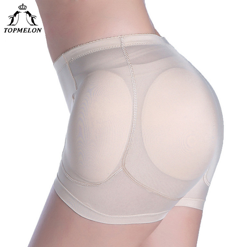 TOPMELON Waist Trainer Butt Lifter Control Pants Shapewear Body Shaper High Waist 4pcs Sponge Pads Padded Booty Enhancer Panties