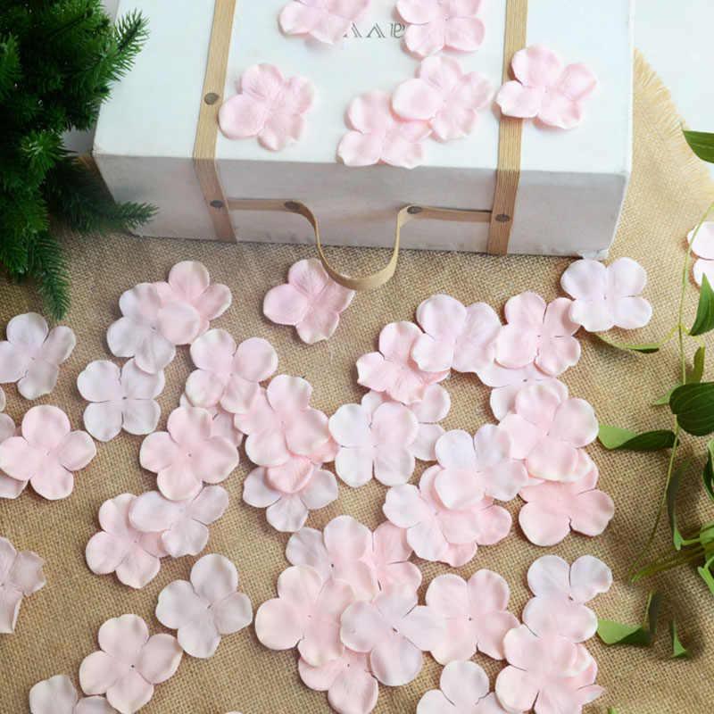 175 unids/lote seda Artificial Hortensia flor pétalos motivo boda mano lanzamiento flores decorativas Hortensia flores de boda