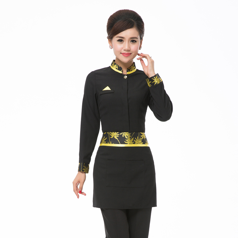 Chef Uniform Hotel Long-sleeved Female Catering Chinese Restaurant Work Wear Coffee Restaurant Waiter Coveralls Male