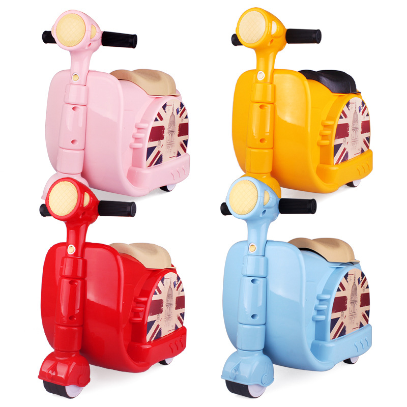 Child trolley luggage travel bag motorcycle drag boxes general cartoon box