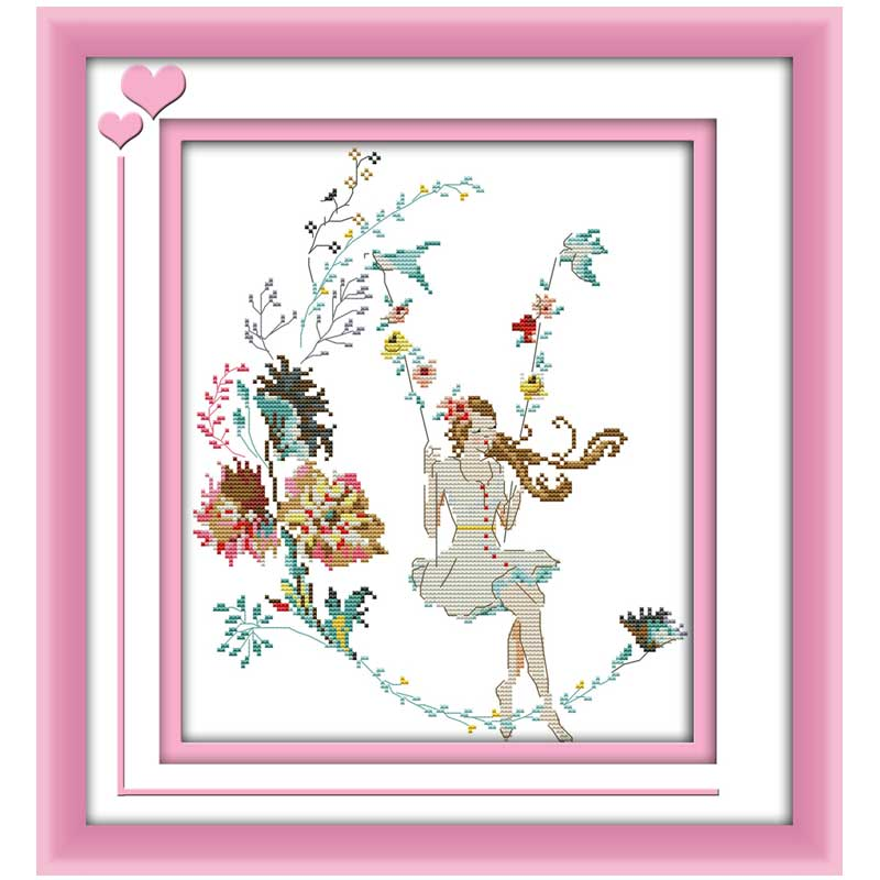 Best buy ) }}The woman in the world - swing Counted Cross Stitch 11CT 14CT