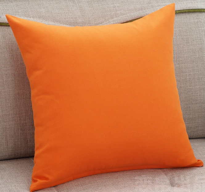 Orange Solid Color Sofa Cushion covers Pure Color World Throw Pillows Cases Home Decorative ...