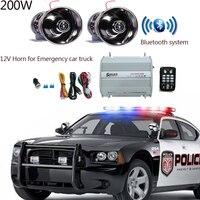 LARATH 200W DC12V Car Truck trailer 8 sound Loud Alarm horn Siren Speaker Auto Police Fire Horn PA Siren Bluetooth control