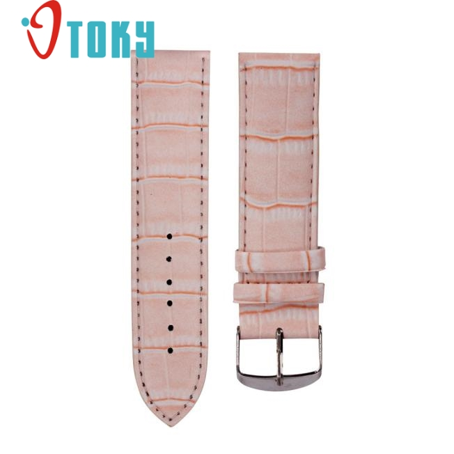 OTOKY 18mm High Quality Soft Sweatband Leather Strap Steel Buckle Wrist Bamboo pattern colorful watch Band june20 P30 high quality soft sweatband leather strap steel buckle wrist watch band 3522 brand new luxury free shipping
