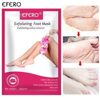 efero2pcs=1pair Rose Foot Peeling Mask for Legs Moisturizing Socks for Pedicure Exfoliating Foot Mask Baby Feet Cream Skin Care Skin Care