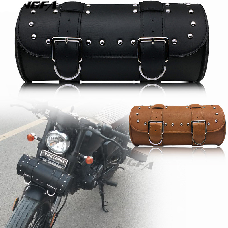 Motorcycle Saddle Bags Leather Motorbike Side Tool Tail Bag Luggage Borsello Moto for Harley Universal D05 tool bag Travel Bags