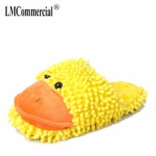 Yellow duck Lovers Warm Woman Slippers Winter Plush Home Floor Shoes House Slippers Children men women home shoes indoor