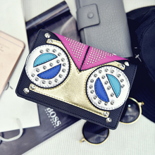 2016 Sale Real South Korea Ulzzang Funny Eyes Multilayer Envelopes Mini Rivet Shoulder Messenger Bag British Style Mobile Phone