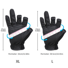 Goture 1Pair High Quality Three Fingerless Anti-slip Fishing Gloves Anti-skin Lure Gloves For Fishing Waterproof Sun Protection
