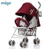 Мода 2016 года ультра портативный Детские коляски детей, путешествующих автомобиль с регулируемым зонт складной Детские Корзина может сидет