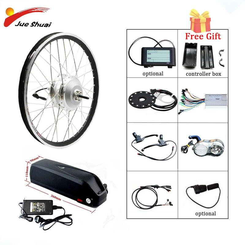 "Bafang 48V 500W Electric Bicycle Gear Hub Motor Front Wheel Electric Bike Conversion Kit for 26"" 700C E Bike Bafang eBike Kit"