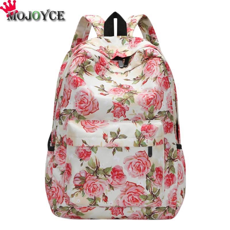 Mojoyce Для женщин 3D с цветочным принтом плеча школьный Обувь для девочек Повседневное отдыха и путешествий ноутбук рюкзак женский холст Рюкза...