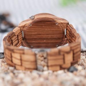 Image 5 - BOBO BIRD Mens Watches Luxury Brand Top Men Watch Relogio Masculino Wooden Wristwatches Timepieces W M30 DROP SHIPPING