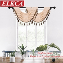 Solid Color Thick Chenille Valances Curtains for Living Room Kitchen Bedroom Luxury Valance (1 Piece, Rod Pocket)