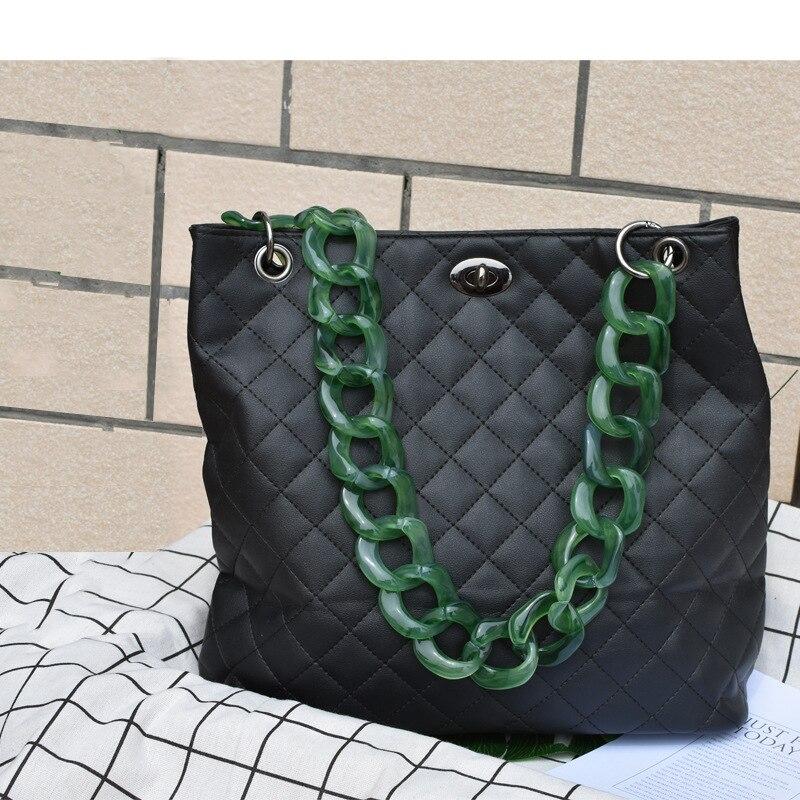 60cm Big Size Acrylic Resin Chain Bag Strap Handbag Plastic Strap Fashion Colorful Women Bag Accessories Shoulder Strap chain