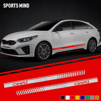 1 Pair Customization For KIA CEED Sport SW Car Styling Automobiles Exterior Accessories Door Side Strip Car Sticker Decal
