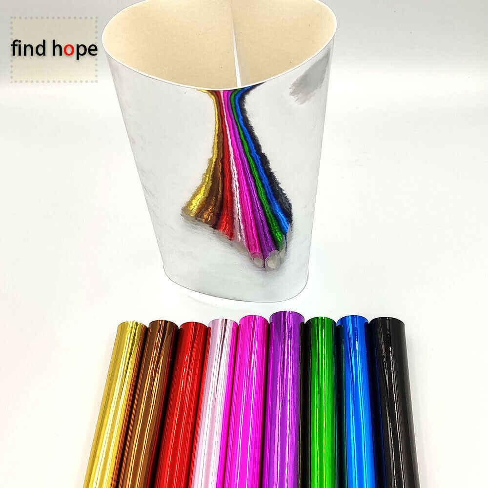 Espejo brillante cuero PU brillante hojas de tela espejo Electroplate láser tela DIY bolsa costura Material artesanal