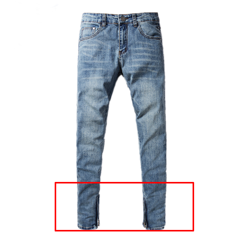 Preppy Men`s Selvedge Zipper Jeans Dsel Brand Clothing Mid Stripe Solid Light  Blue Jeans Pants Designer Skinny Jeans Men H2002 - Mens Light Blue Skinny Jeans Promotion-Shop For Promotional Mens