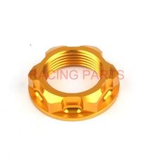 CNC Billet Steering Stem Nut For RM125 RM250 04-08 RMZ250 07-16 RMZ450 05-16 Dirt bike Off Road Motocross стоимость