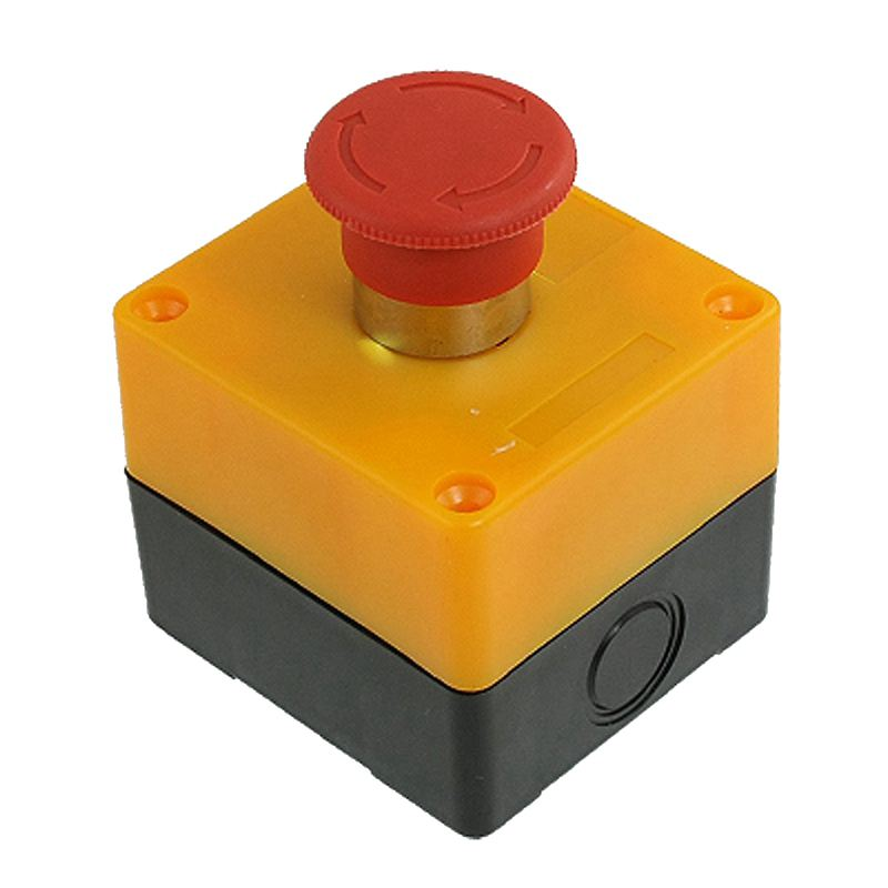 Red Sign Mushroom Emergency Stop Push Button Switch Station 1 NC N/C 10A 600V
