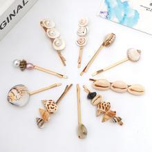 Корейские жемчужные раковины заколки заколки для волос заколки для женщин тока 3шт / комплект