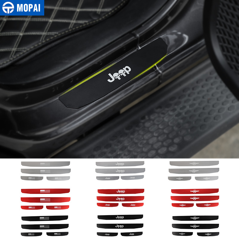 MOPAI Car Nerf Bars Running Boards for Jeep Wrangler JL 2018 Car Door Sill Scuff Plate