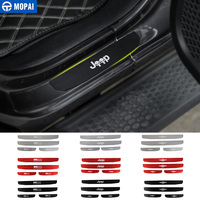 MOPAI Car Nerf Bars Running Boards for Jeep Wrangler JL 2018 Car Door Sill Scuff Plate Stickers for Jeep JL Wrangler Accessories