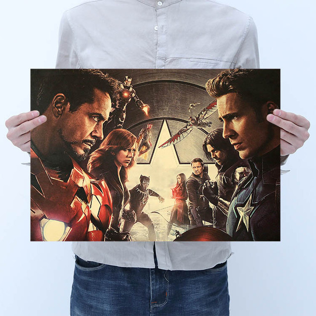 Avengers Superohero Vintage poster