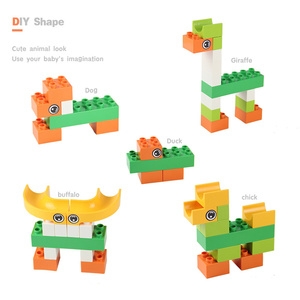 Image 4 - 56 224Pcs Big Size Brick Marble Race Run Maze Ball Track Diy Building Blocks Compatible Duploe block toys for children